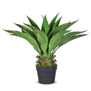 HTT Decorations - Kunstplant Agave vetplant H60cm - kunstplantshop.nl
