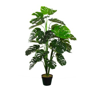 HTT Decorations - Kunstplant Monstera XXL H120 cm - kunstplantshop.nl