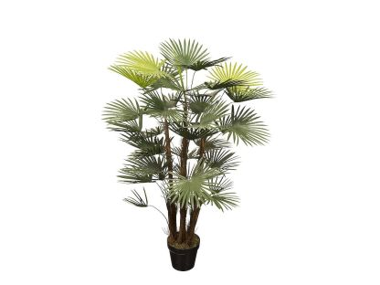 HTT Decorations - Kunstplant Rhapis palm H120cm - kunstplantshop.nl
