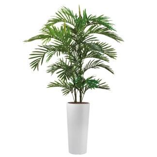 HTT - Kunstplant Areca palm in Clou rond wit H185 cm - kunstplantshop.nl
