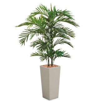HTT - Kunstplant Areca palm in Clou vierkant taupe H185 cm - kunstplantshop.nl