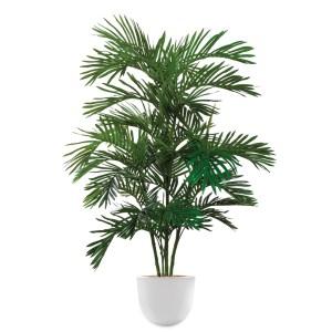 HTT - Kunstplant Areca palm in Eggy wit H160 cm - kunstplantshop.nl