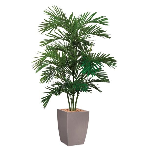 HTT - Kunstplant Areca palm in Genesis vierkant taupe H180 cm - kunstplantshop.nl