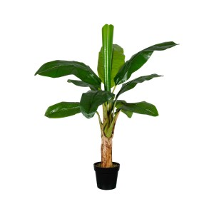 HTT Decorations - Kunstplant Bananenplant H130cm - kunstplantshop.nl