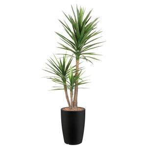 HTT - Kunstplant Yucca in Genesis rond antraciet H200 cm - kunstplantshop.nl