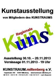 Plakat - Mitgliederausstellung Nov 2013