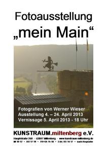 Plakat - Werner Wieser April 2013