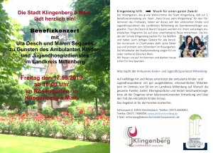 Benefizkonzert im Rosengarten in Klingenberg am Main