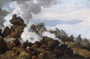 Franz Ludwig Catel (1778–1856) Der Krater des Vesuvs, April 1812 Öl auf Papier auf Leinwand, 29 x 44 cm Hamburger Kunsthalle © Hamburger Kunsthalle/bpk Photo: Elke Walford