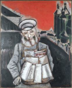Marc Chagall - Der Zeitungsverkäufer (Le marchand de journaux), 1914 Öl auf Karton, 98 x 78.5 cm © Musée national d'art moderne, Centre Georges Pompidou, Paris / ProLitteris, Zürich