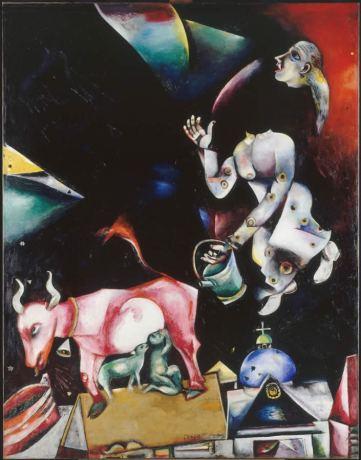 Marc Chagall - Russland, den Eseln und anderen