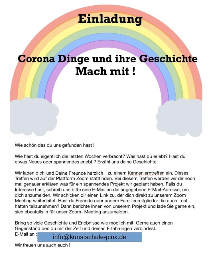 Einladung Corona