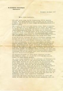 1957_Brief_Konrad_Adenauer-Briefkasten_Vorserseite_Ausstellung_Vergessener_Briefkasten_Ruhrstr.3_Foto_by_Ivo_Franz