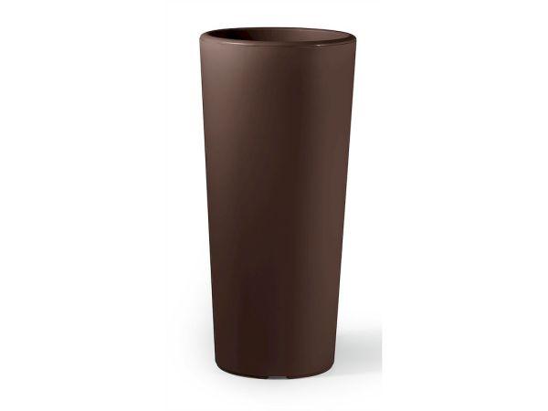 VECA - Bloempot Clou, rond, H100 cm, bruin - kunststofbloempot.nl