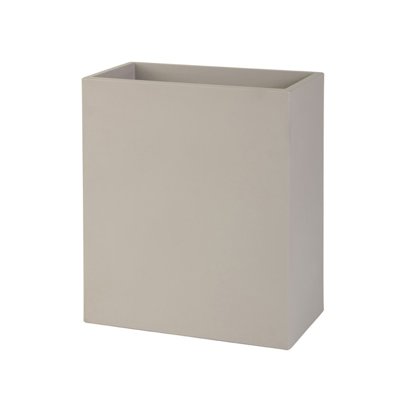 PLASTECNIC - Bloempot Cassetta Alta Modulo, H80 cm, taupe - kunststofbloempot.nl