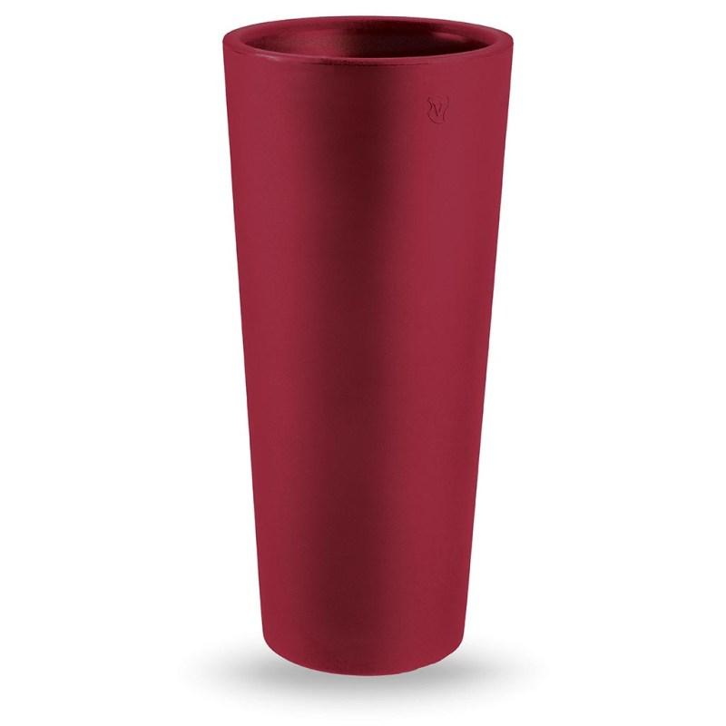 VECA - Bloempot Genesis, rond, H85 cm, rood - kunststofbloempot.nl