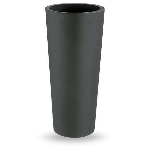 VECA - Bloempot Genesis, rond, 130 cm, antraciet - kunststofbloempot.nl