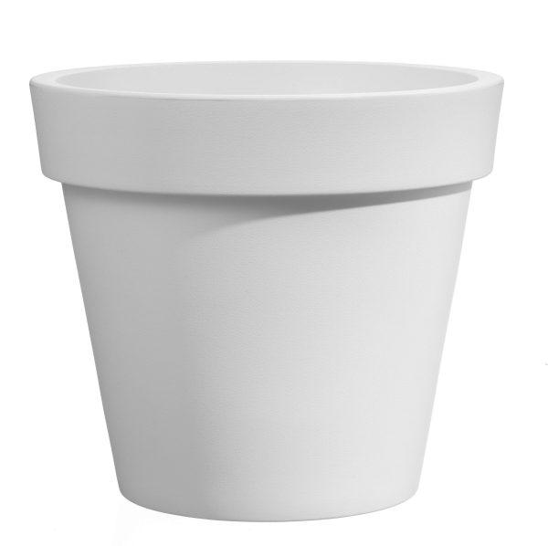 VECA - Bloempot Easy, rond Ø80 cm, H75 cm, wit - kunststofbloempot.nl