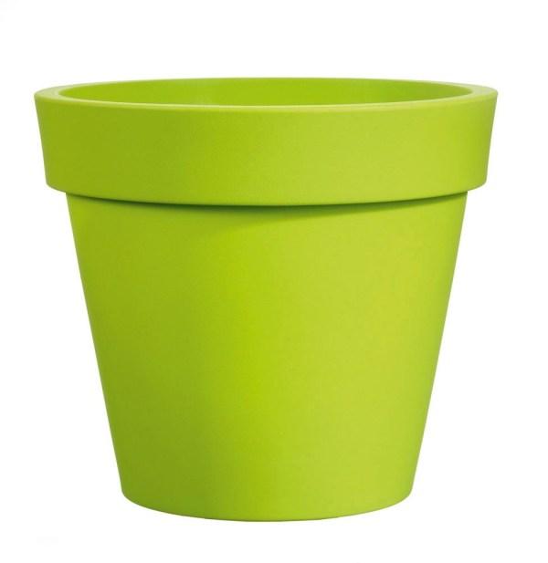 VECA - Bloempot Easy, rond Ø100 cm, H88 cm, groen - kunststofbloempot.nl