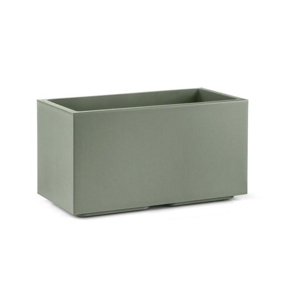 VECA - Plantenbak Matheria, L80 cm, H40 cm, groen - kunststofbloempot.nl