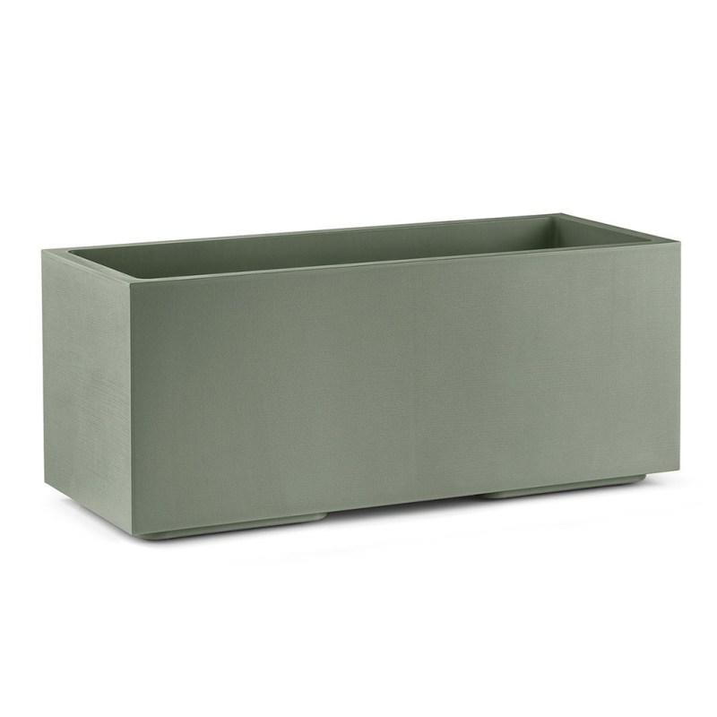 VECA - Plantenbak Matheria, L100 cm, H40 cm, groen - kunststofbloempot.nl