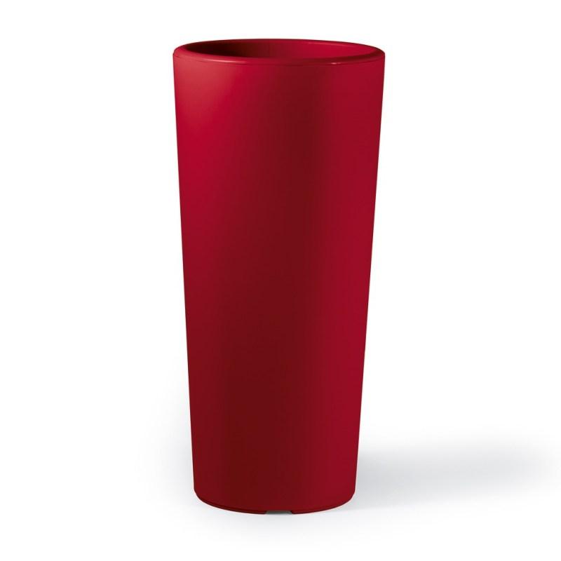 VECA - Bloempot Clou, rond, H85 cm, rood