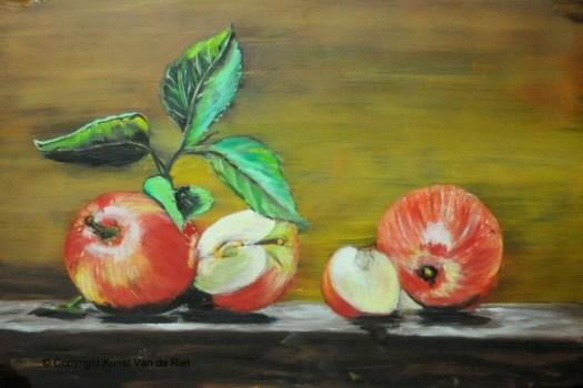Appels olieverf schilderij
