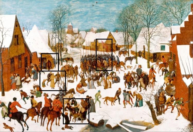 De Kindermoord van Bethlehem - Pieter Bruegel - de Oudere