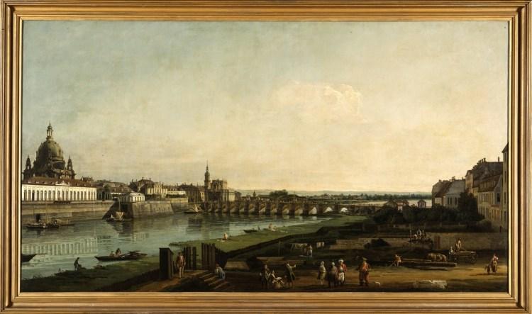 Bernardo Bellotto - Dresden vanaf de rechteroever van de Elbe