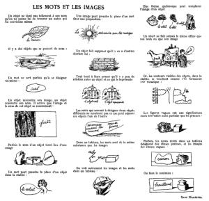 René Magritte - Woord en Beeld (klik voor vergroting)