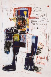 Jean-Michel Basquiat - Irony of negro policeman