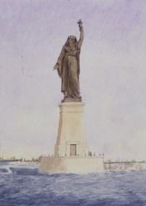 Bartholdi's ontwerp voor het Suez Kanaal