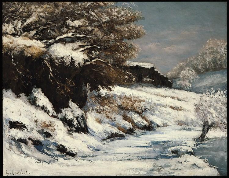 Gustave Courbet - Effect van Sneeuw