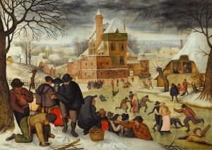 Pieter Brueghel - Winterlandschap met schaatsers