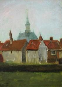 Vincent van Gogh - Nieuwe Kerk en Oude Huizen in Den Haag