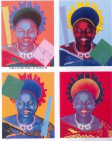 Andy Warhol - Koningin Ntombi Twala van Swaziland
