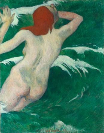 Paul Gauguin - Dans les vagues © The Cleveland Museum of Art