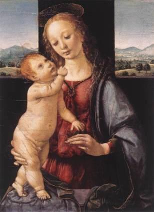 Lorenzo di Credi - Madonna met Kind (Dreyfus Madonna)