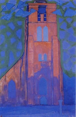 Piet Mondriaan - Kerktoren van Domburg