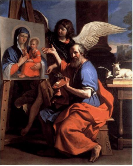 Guercino - St. Lucas schildert de Madonna