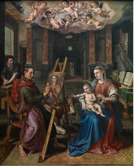 Maerten de Vos - St. Lucas schildert de Madonna