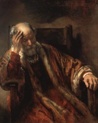Rembrandt van Rijn - Oude man in een stoel