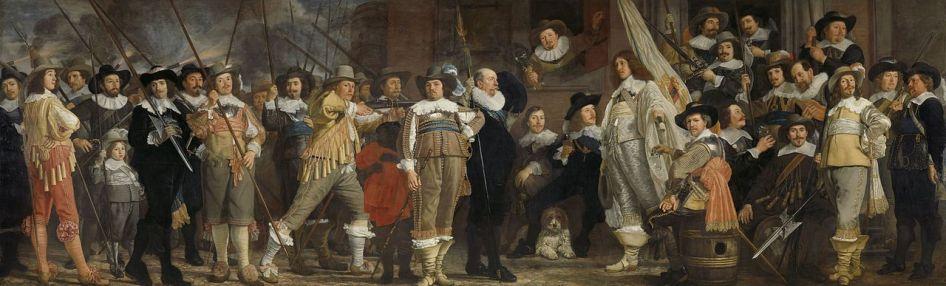 Bartholomeus van der Helst - Het vendel van kapitein Roelof Bicker en luitenant Jan Michielsz. Blaeuw
