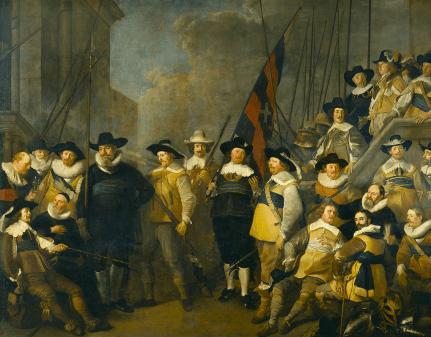 Jacob Backer - Het vendel van kapitein Cornelis de Graeff en luitenant Hendrick Lauwrensz.