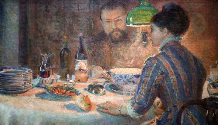 Marie Bracquemond - Onder de lamp