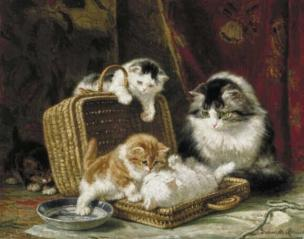 Henriëtte Ronner-Knip - Spelende katjes