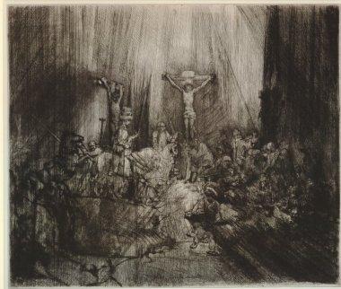 Rembrandt van Rijn - de Drie Kruizen (staat 5)