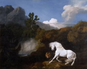 George Stubbs - Horse frightened by a lion