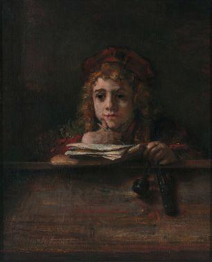 Rembrandt van Rijn - Titus achter zijn bureau