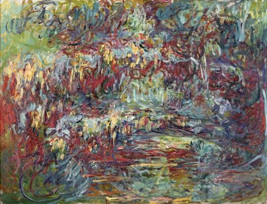 Claude Monet (1840-1926), De Japanse brug, 1918-24, olieverf op doek, 74 x 92 cm, Musée Marmottan.
